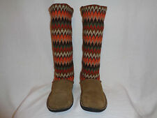 Keen 53018 Brown Suede Leather Knit Fur Lined Tall Boots Women's Sz US 11