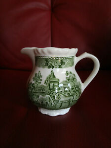 ADAMS English Scenic| Ironstone grün Wedgwood  Milchkännchen Sahnekännchen