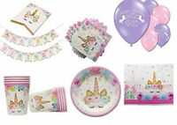 MAGICAL UNICORN Birthday Party Kits, Plates, Cups, Napkins, Banners & Balloons