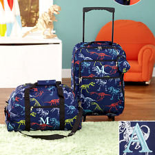 Luggage for Kids Boys Set Small Rolling Suitcase Duffel Bag Dinosaur Letter A