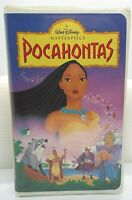 Pocahontas VHS 1996 Clamshell Walt Disney's Masterpiece TESTED