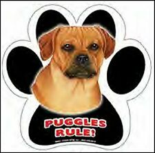 "Paw Print Puggle Waterproof 5"" Dog Magnet New!"