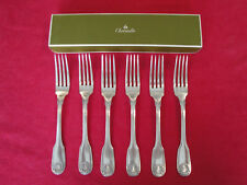 Christofle Vendome Arcantia Silver plated dinner forks Set of six