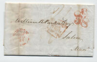 1848 Boston 58 handstamp on retaliatory rate transatlantic stampless [45.114]