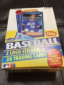 1986 Fleer Baseball Cello Box - 24 Ct. Packs- Pristine