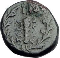 SARDES in Lydia 133BC Authentic Ancient Greek Coin APOLLO & HERCULES CLUB i62783