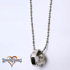 Kingdom Hearts 2 Crown Rotating Ring Pendant Key Blade Necklace Chain