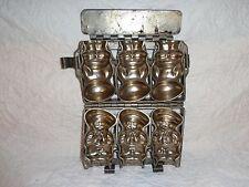 Vintage Hinged & Clasp Metal 3 Little Dutch Boys Form Chocolate Mold, Food