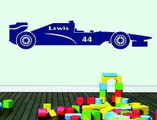 Formula1 Car + Free Personalised Name Decorative Vinyl Wall Sticker Art Decal