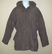 Womens Uno Momento by Learsi Winter Coat Jacket With Hood & Waist Drawstring L