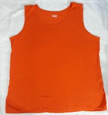 Basic Editions Womens Tank Scoop Neck Shirt Top Orange XL NWT  100% Cotton