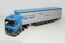TEKNO BASED MERCEDES ACTROS TRUCK WITH TRAILER SCANSPED SA TRANS N MINT RARE