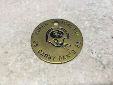 Super Bowl XVI Solid Brass Token Darby Dans San Francisco 49ers 26 21 SF
