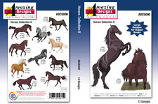 STUNNING HORSE EMBROIDERY DESIGNS ON CD IN PES/JEF/VP3 & HUS.