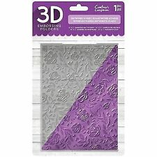 "Crafter's Companion 3d Embossing Folder 5""x7"" Entwined Rose 709650835887"