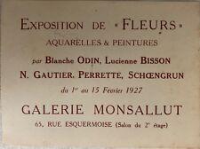 EXPOSITION DE FLEURS AQUARELLE & PEINTURES PAR BLANCHE ODIN , BISSON GAUTIER ...