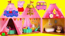 Peppa Pig Peppa Glamping Tent House 2 Figuras Muebles Conjunto de Juego Juguete Con Luz
