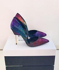 Kurt Geiger London Bond Multicolour Shoes Size 4 EU 37 High Heel Court Brand New