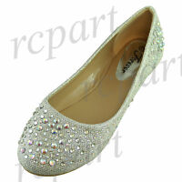 New women's shoes blink blink ballet flats rhinestones party casual silver