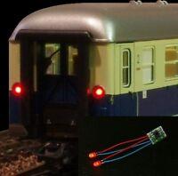 S1113 - LED Zugschlußbeleuchtung Schlußbeleuchtung für Waggons 5mm LEDs rot