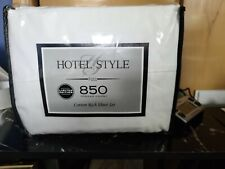 New Hotel Style White Full Size 850 Thread Count Cotton Rich Sheet Set