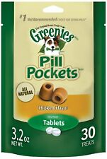 Greenies Pill Pockets Chicken Tablet Size 30 count | Dog Medicine Treats