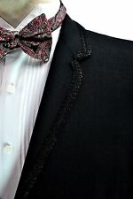 Bespoke Braid Trim Tuxedo Jacket 40S Med Short 60's vtg Mod Prep Dinner Blazer