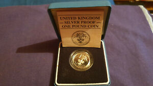 Royal Mint Silver Proof 1985 one pound Coin
