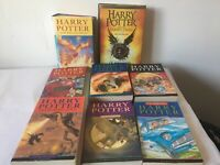 Mixed bundle of 8 x Harry Potter books - Paperback and Hardback copies