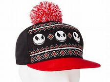 The Nightmare Before Christmas Jack Skellington Pom Baseball Cap Hat Adult - NEW