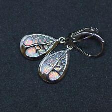 Tree Of Life Opal Earrings Sterling Silver 925 , October Birthstone New Start