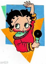 "8"" BETTY BOOP VINTAGE CHARACTER NOVELTY FABRIC APPLIQUE IRON ON"