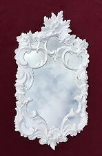 Espejo de Pared Blanco Barroco ANTIGUO Rococó 60x35 decoración C511 pasillo