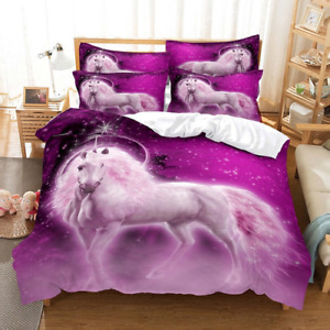 Unicorn And Animals Bedding Sets Duvet Cover Set 3d Bedding Printing Queen Sizes