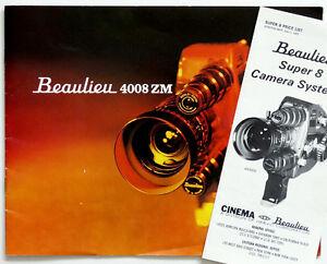 Vintage BEAULIEU 4008 ZM Movie Camera ADVERTISING BOOKLET & 1960's PRICE LIST