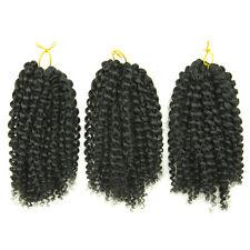 Henan Hair Mali Bob 3 Pcs Set Short 8 Inches Twist Crochet Braid off Black 1b