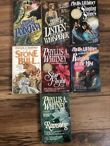 LOT OF 7 PHYLLIS A WHITNEY HISTORICAL/MYSTERY/ ROMANCE Paperback Books