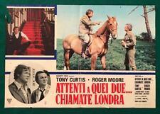 FOTOBUSTA   ATTENTI A QUEI DUE CHIAMATE LONDRA ROGER MOORE TONY CURTIS CULT  SPY