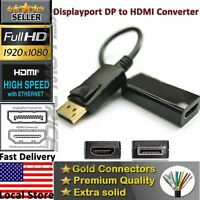 High Quality DP Plated DisplayPort to HDMI Adapter For Audio Dell Lenovo HP PC
