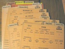 New Listing1935 Stutz, Nash, Hudson, Ford Pennzoil Lubrication Safety System Cards - Rare!
