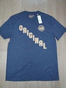Original Penguin Men's Dark Sapphire Blue Crew Neck T-Shirt Top M New OPKH7451