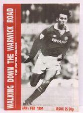 Walking Down The Warwick Road Issue 25 Manchester United Fanzine 1994 WDWR