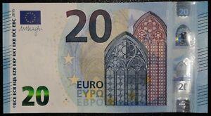 N1 FRANCE 20 Euro 2015, UD-serie UNC, DRAGHI Sign, Printer U003G4