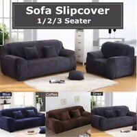 1/2/3 Seaters Thick Plush Couch Lounge Stretch Sofa Slip Cover Furniture Protect