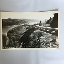 Vista House Crown Point Columbia River Oregon RPPC Real Photo Postcard