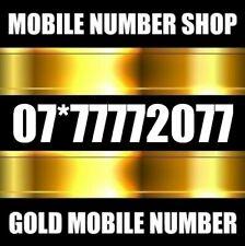 GOLD MEMORABLE UK UNIQUE BUSINESS MOBILE NUMBER PHONE SIM CARD 7777777