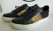 BNIB Paul Smith Mens Ivo Multi Stripe Dark Navy Leather Sneakers (UK 7) RRP £275
