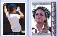 (2) JENNIE FINCH LEAF 2004 OLYMPICS U.S.A SOFTBALL ROOKIE CARD LOT! GOLD SEALED!