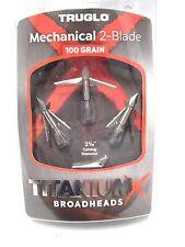TruGlo TitaniumX Mechanical 2 Blade Broadhead! 100grn TG3201AV titanium X