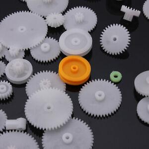 64x Zahnrad Zahnstangen Kunststoff Antriebsrädchen Zahnräder Spielzeug TOOL